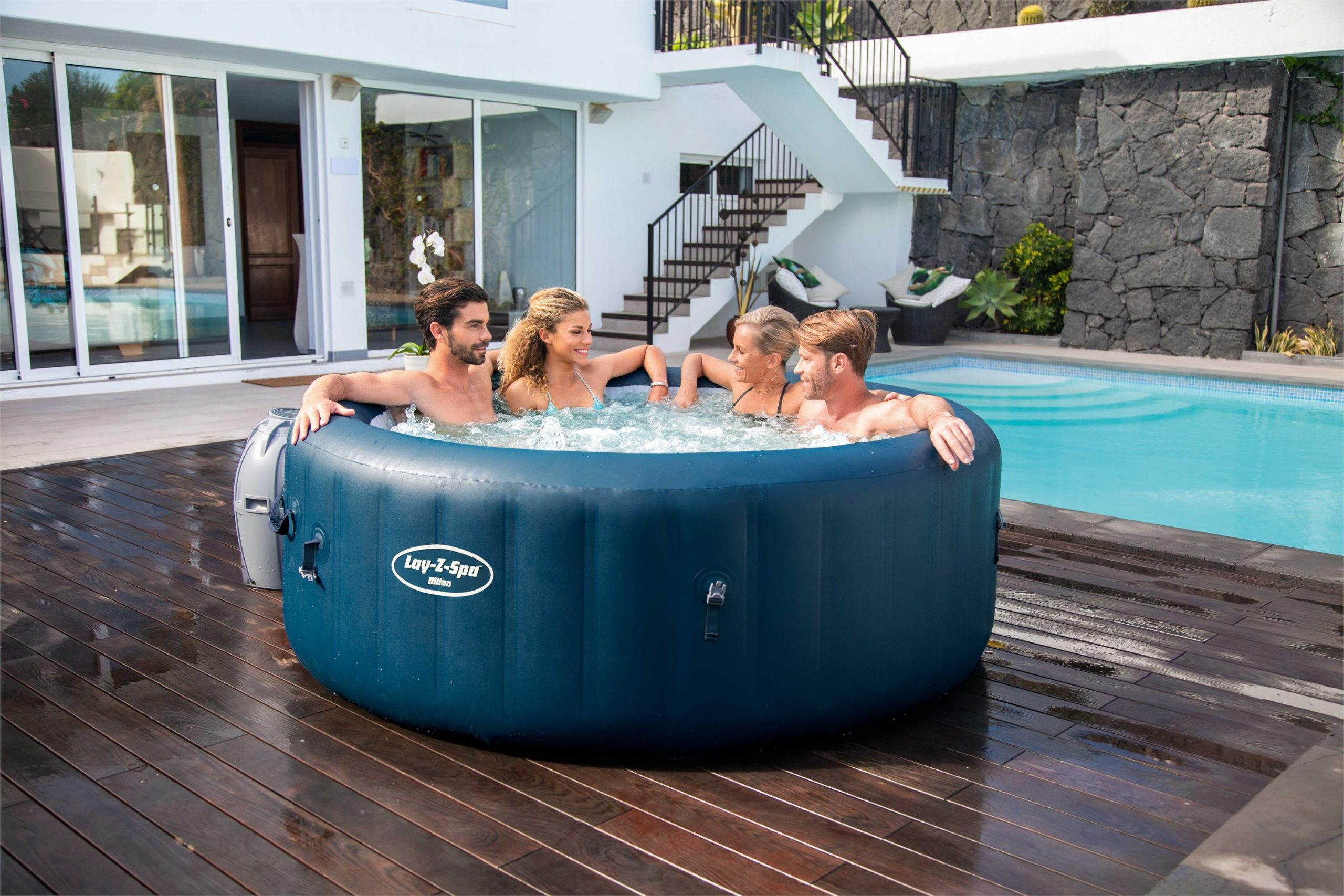 Lay-Z-Spa Milan AirJet Plus hot tub feature image